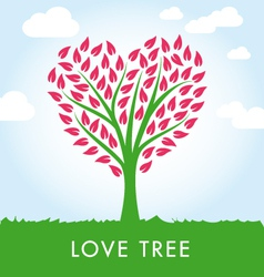 Tree heart shape vector