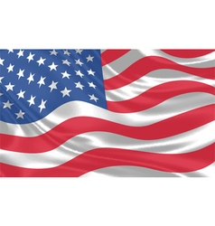 USA Flag waving vector image vector image