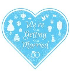 Wedding Invitation Badge vector image vector image