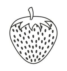 Strawberry fruit isolated icon vector