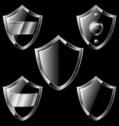Steel shields vector