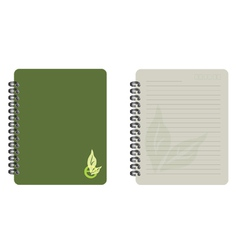 notebook eco vector image