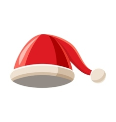 Christmas hat with pompom icon cartoon style vector image