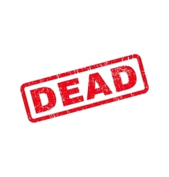 Dead text rubber stamp vector