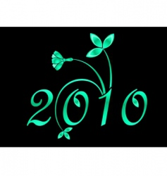2010 year sign vector