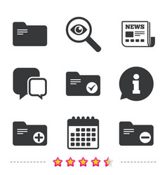 Accounting binders icons add document symbol vector