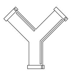 industrial pipe alphabet letter y icon vector image