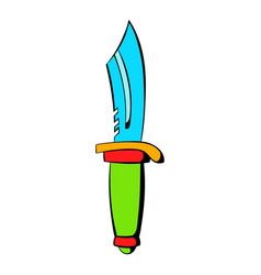 Hunting knife icon icon cartoon vector