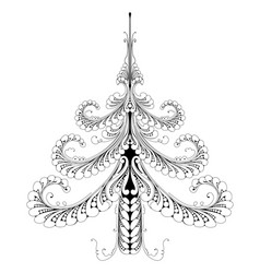 Beautiful abstract pattern christmas tree vector