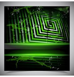 Green scratch grunge background vector image