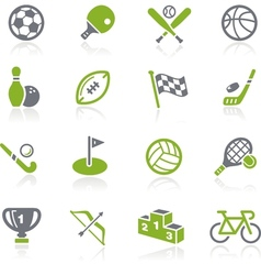 Sports icons natura series vector