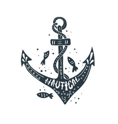 nautical lettering design vector image