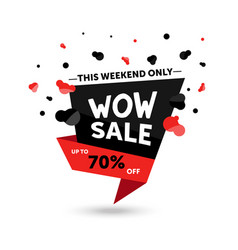 Wow sale - modern of discount vector