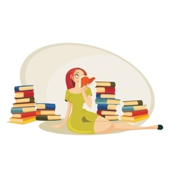 Reading a book vector image