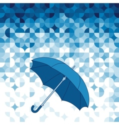 Umbrella on abstract geometric background vector