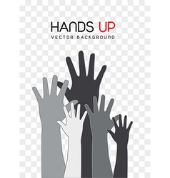 Hands up vector
