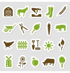 Farm stickers vector