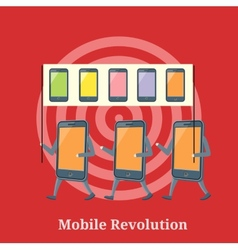 Mobile revolution concept vector