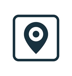Map pin icon rounded squares button vector