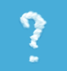 Question mark shaped cloud vector