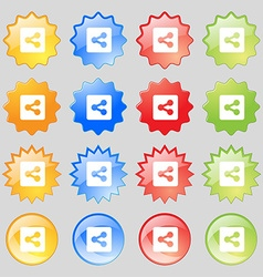 Share icon sign set from fourteen multi-colored vector