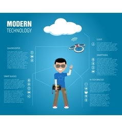 Modern technology vector
