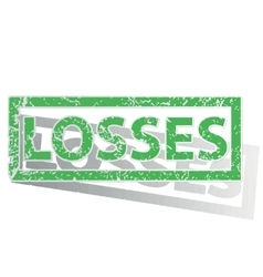 Green outlined losses stamp vector