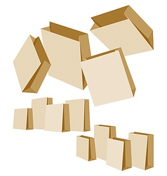 paper bags vector image