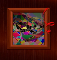 stained glass carnival vector image