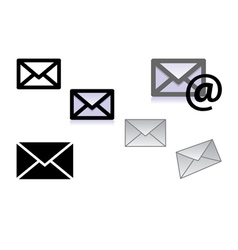 picture of letter icons vector image
