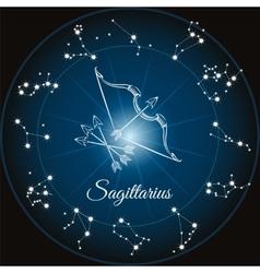 Zodiac sign sagittarius vector