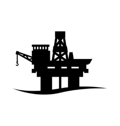 Black oil platform icon vector