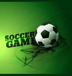 Abstract football game on green background vector