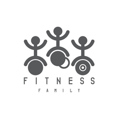 Abstract sport and fitness persons design template vector