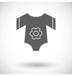 Baby clothes flat icon vector image vector image