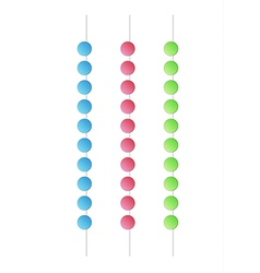 Balls on the edge vector