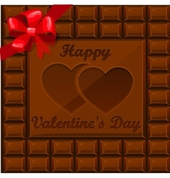 Bar of chocolate on valentine s day vector
