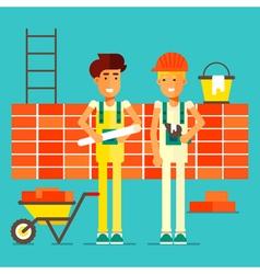 Builders characters vector