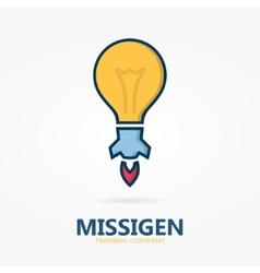 Bulb logo with idea concept vector
