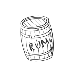 doodle barrel of rum vector image vector image