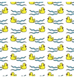 Ducks seamless pattern vector image vector image