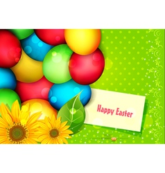 Easter eggs painted vector image