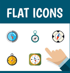 flat icon direction set of magnet navigator vector image vector image