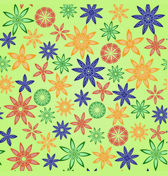 Flower pattern2 vector