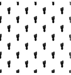 Foot left leg pattern vector