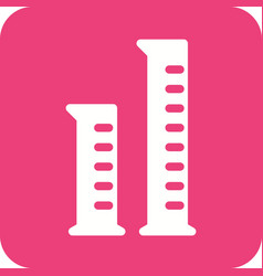 graduated cylinders vector image vector image