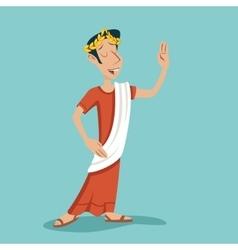 Greek roman retro vintage businessman cartoon vector
