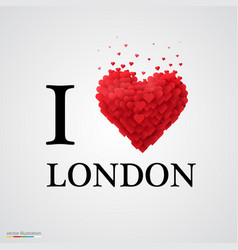 I love london heart sign vector