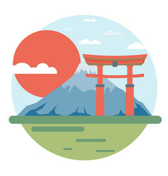 japan flat design landmark vector image