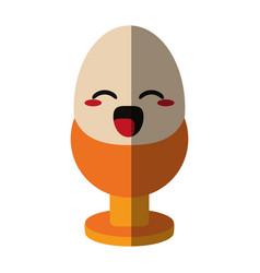 Kawaii egg icon image vector